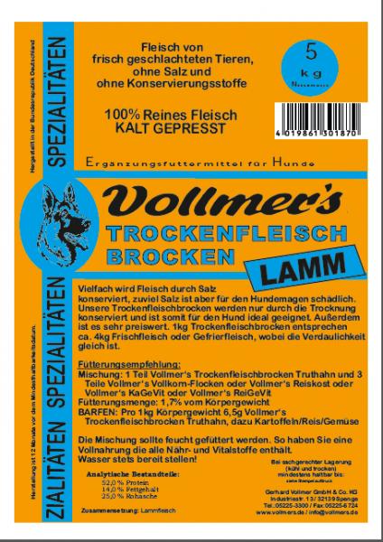 Vollmers Trockenfleisch Lamm