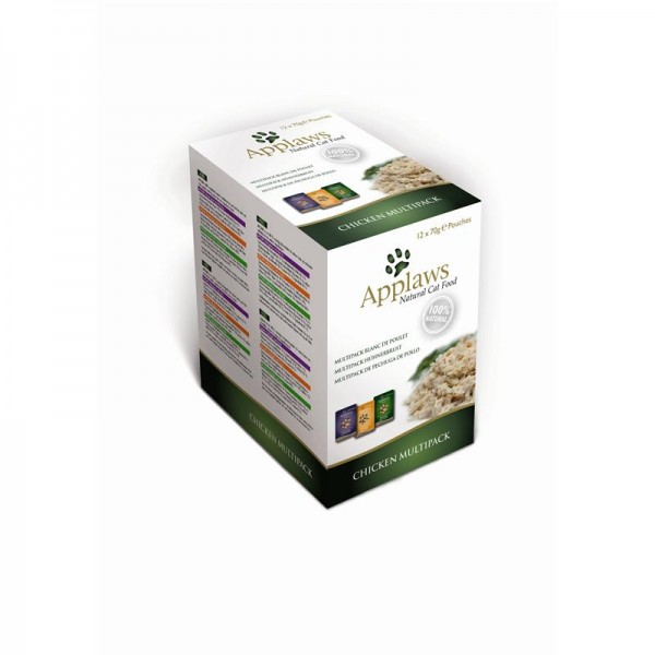 Applaws Cat Pouchbeutel Multipack Huhn 12x70g