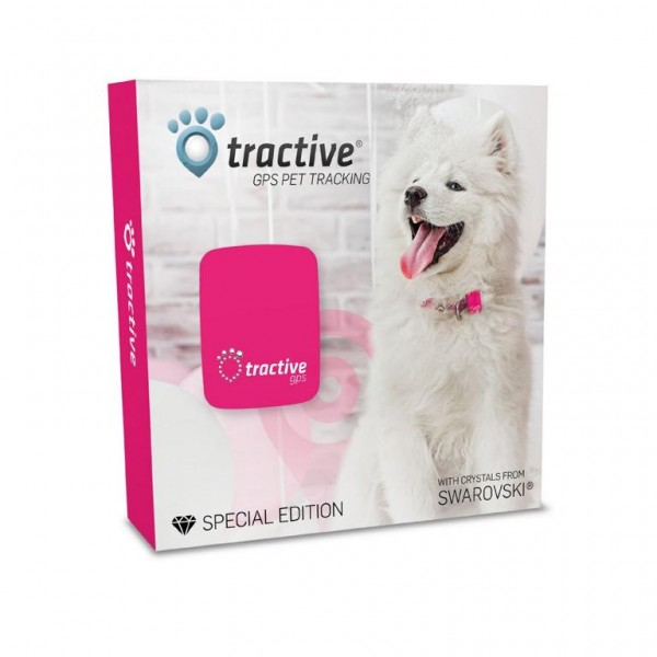 TRACTIVE GPS Tracker PINK Swarovski Edition