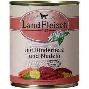 LandFleisch Pur Rinderherzen & Nudeln