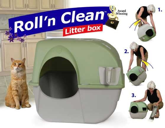 Katzentoilette Roll n Clean braun/grau