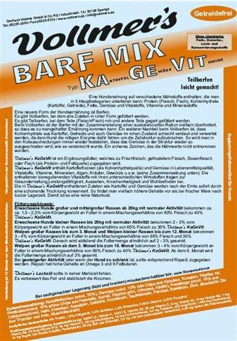 Vollmers Barf Mix KaGeVit