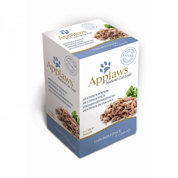 Applaws Cat Pouchbeutel Multipack Fisch in Gelee 5x50g
