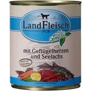 LandFleisch Pur Geflügelherzen & Seelachs