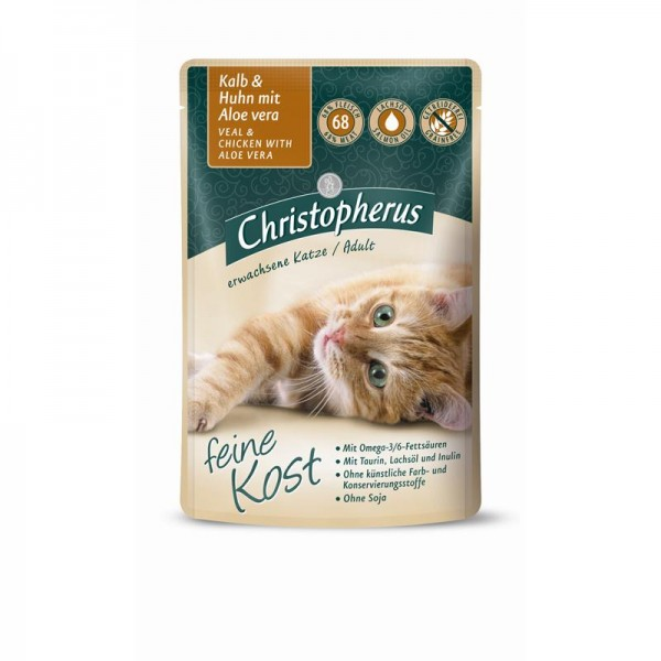 Christopherus Pouch Adult Kalb+Huhn mit Aloe 85g