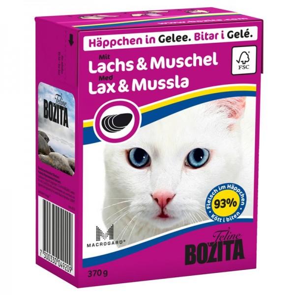 Bozita Häppchen in Gelee mit Lachs & Muschel 370g